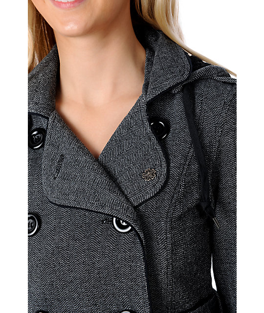 Obey Michigan Ave Black Herringbone Jacket