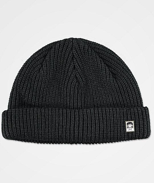 Obey Micro Black Beanie  e9458b000c04