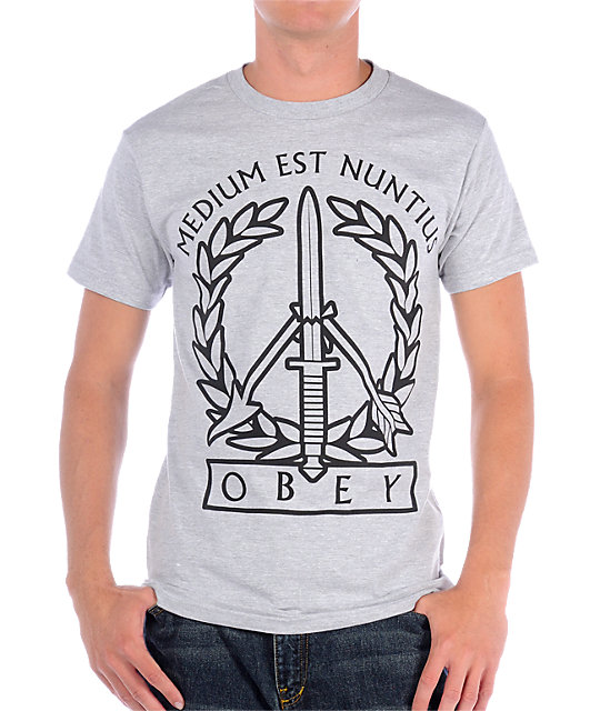 Obey Military Grey Heather T-Shirt