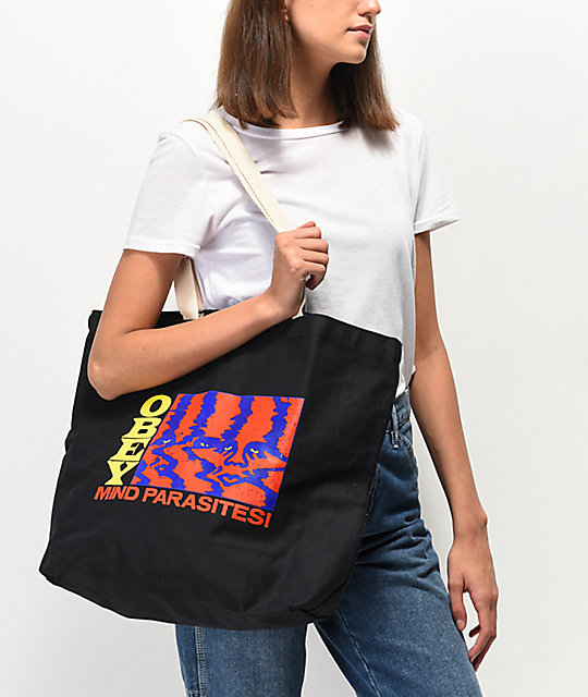 Obey Mind Parasites bolso tote negro