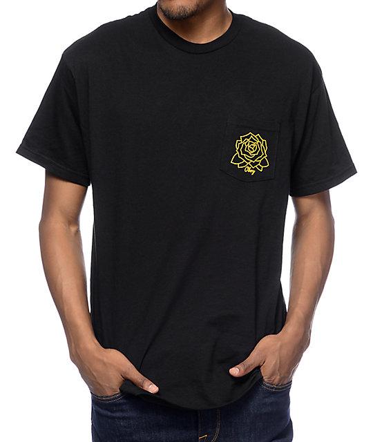 Obey Mira Rosa Black Pocket T-Shirt  f3c11b6fe236