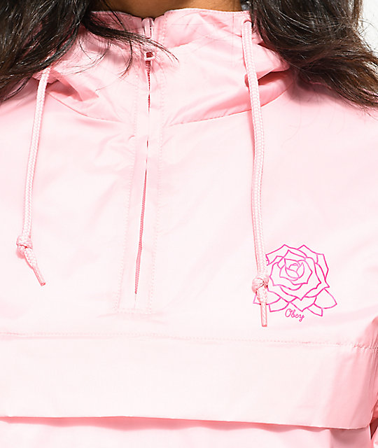 Obey Mira Rose Pink Anorak Jacket