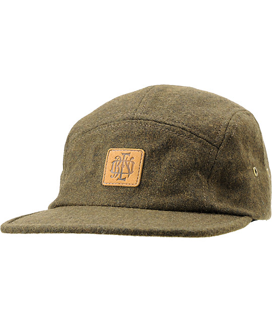 Obey Monogram Green 5 Panel Hat