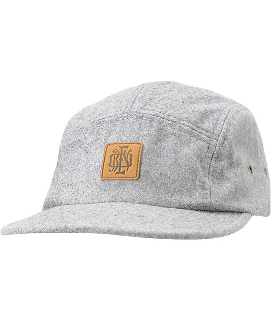 Obey Monogram Grey 5 Panel Hat