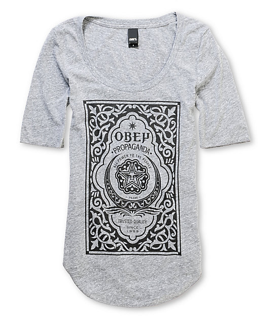 Obey Moroccan Label Grey T-Shirt