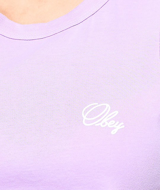 Obey Moto Old Script Orchid Tank Top