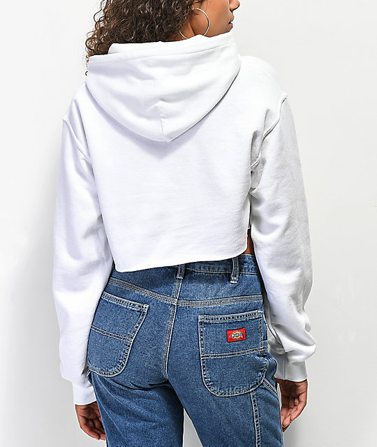 Obey Multicolor Novel White Crop Hoodie