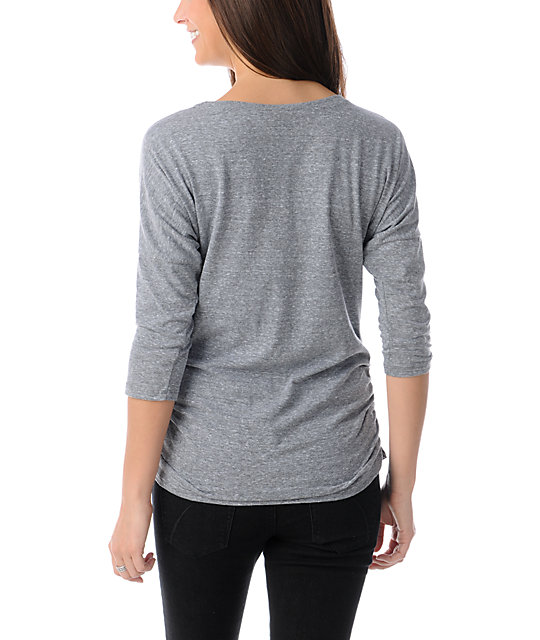 Obey Mutiny On Board Grey Tri-Blend Dolman Top