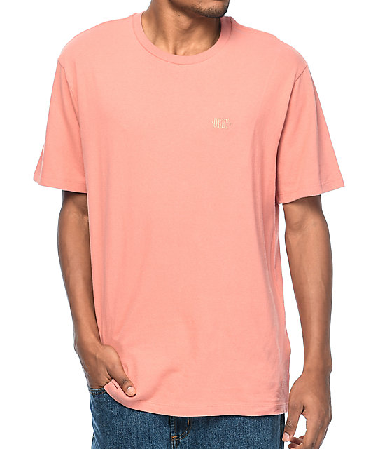 Obey New Time Box camiseta en color rosa