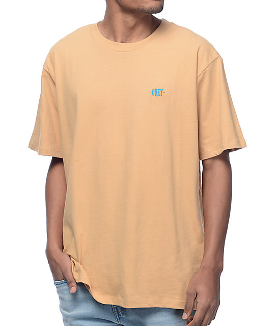 Obey New Times Box Sand T-Shirt