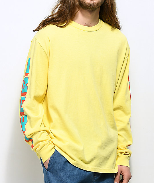 Obey New World 2 Dusty Lemon Long Sleeve T-Shirt