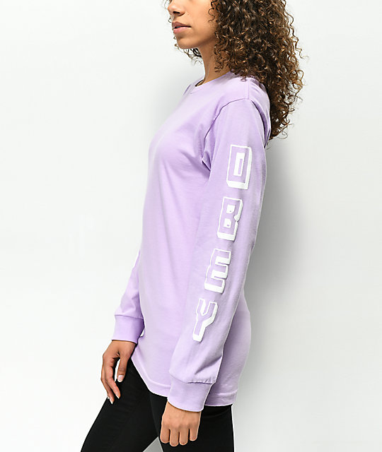 Obey New World Lavender Long Sleeve T-Shirt