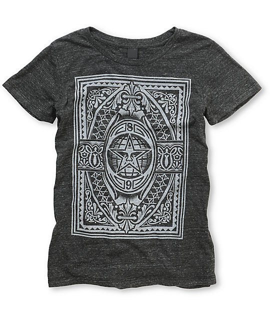 Obey New World Order Charcoal Tri-Blend T-Shirt
