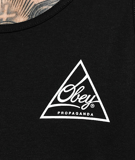 Obey Next Round 2 Black & White Tank Top