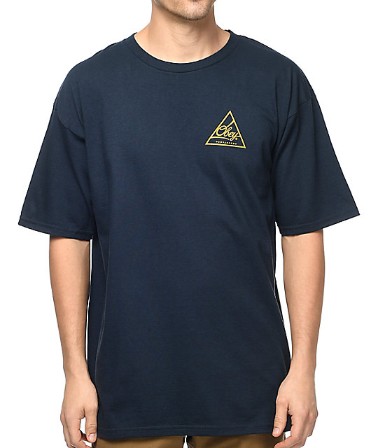 Obey Next Round 2 Navy & Gold T-Shirt