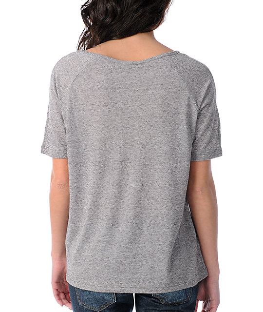 Obey Night Prowler Grey Nubby Burnout Top