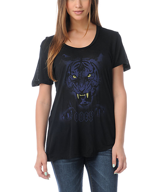 Obey Night Stalker Black T-Shirt