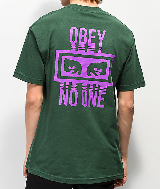 Obey No One Forest Green T-Shirt
