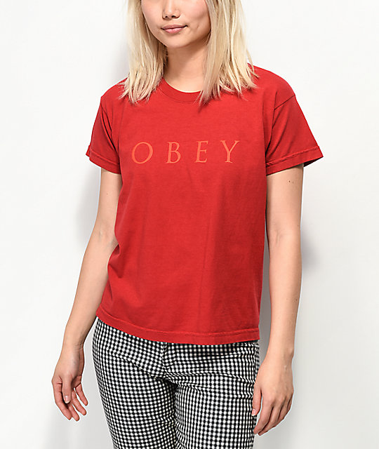 Obey Novel 2 Box camiseta roja
