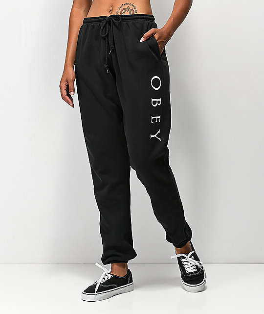 Obey Novel 2 Pigment Black Sweatpants