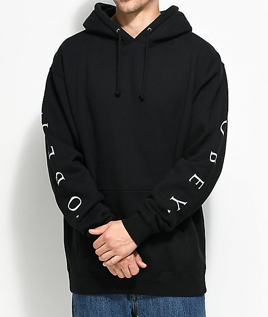 Obey Novel Black Pullover Hoodie