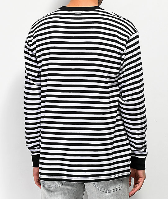 Obey Novel Black Striped Long Sleeve T-Shirt