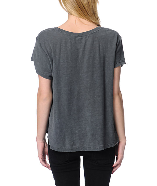 Obey OG Family Charcoal Grey Slub Dolman Top
