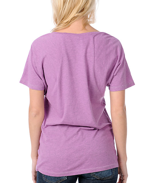 Obey OG Graffiti Raglan Dolman Purple T-Shirt