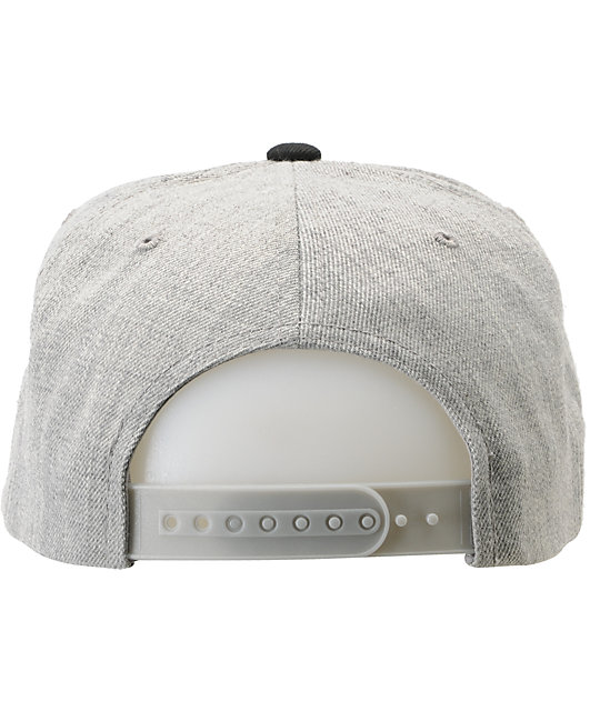 82ea4010313 ... Obey On Deck Heather Grey Snapback Hat