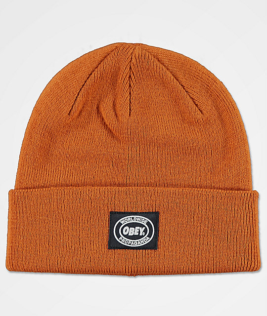 Obey Onset Brown Beanie