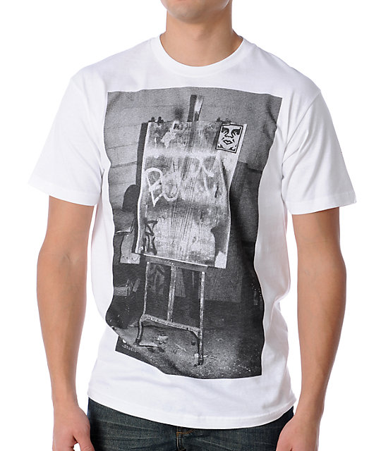 Obey Ornate White T-Shirt
