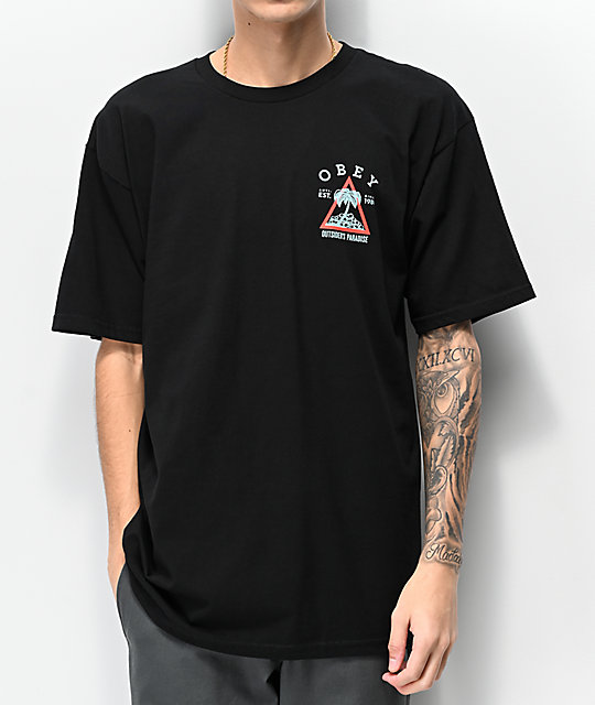 Obey Outsiders Paradise Black T-Shirt