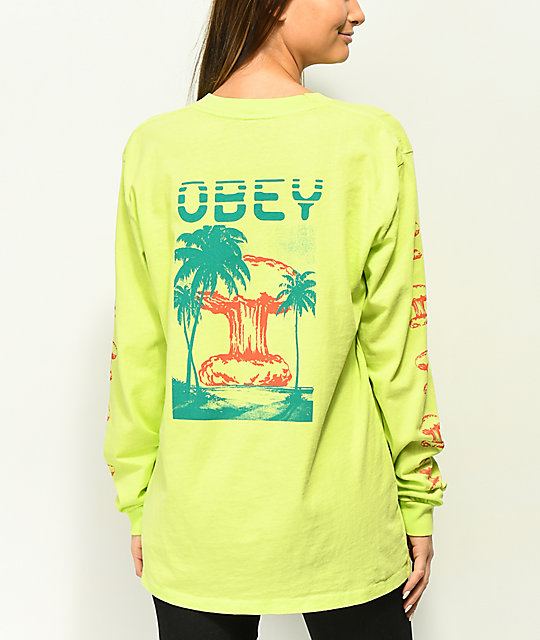 Obey Over Paradise Mint Long Sleeve T-Shirt