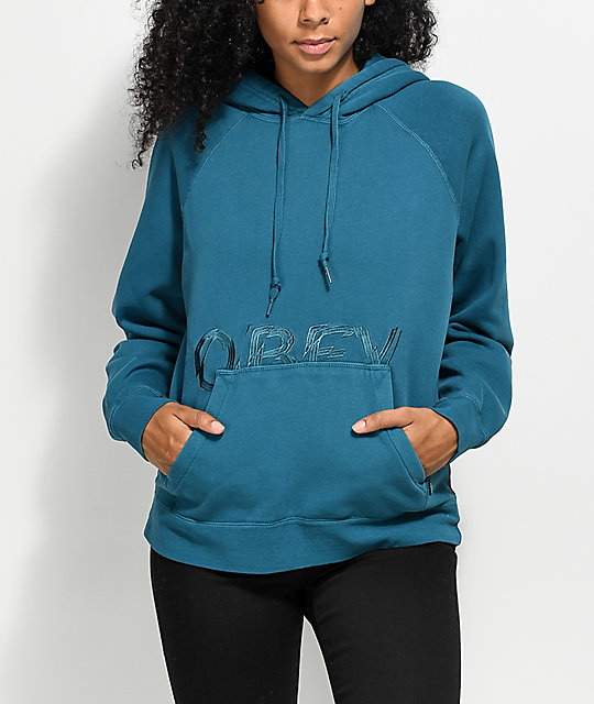 Obey Parkside Turquoise Hoodie