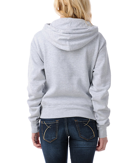 Obey Peace Liberty Star Heather Grey Pullover Hoodie