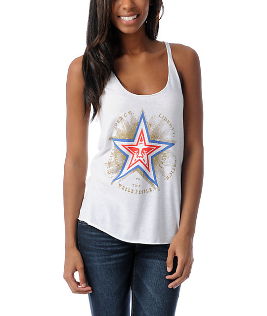 Obey Peace Liberty Star Racer Back Tank Top