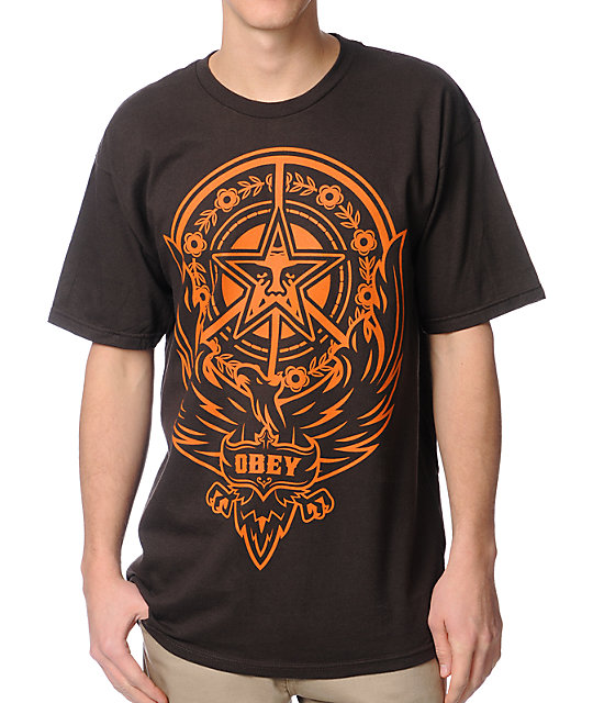 Obey Peace Phoenix Brown T-Shirt