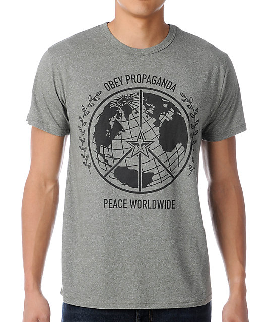 Obey Peace Worldwide Heather Green T-Shirt