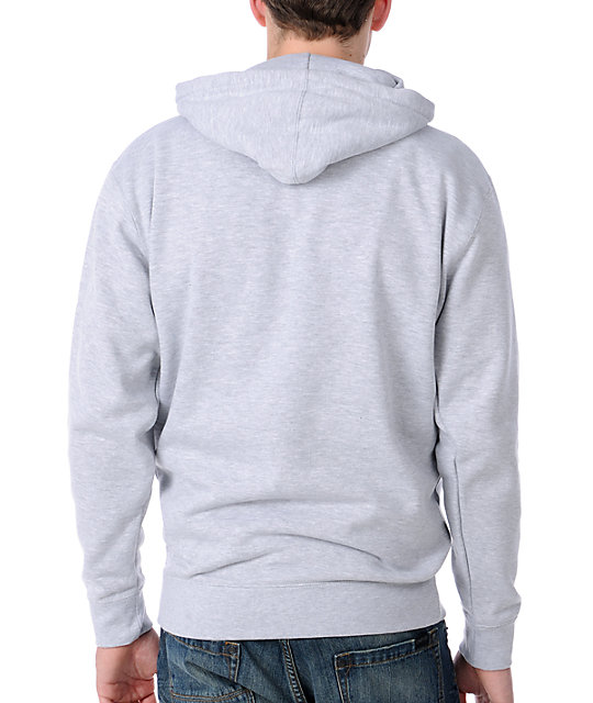 Obey Peace Worldwide Heather Grey Mens Hoodie