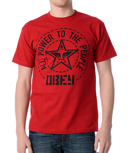 Obey Peoples Seal Red T-Shirt