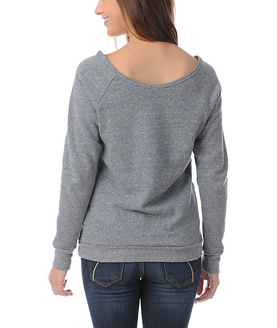 Obey Petal to the Metal Grey Vandal Crew Neck Sweatshirt