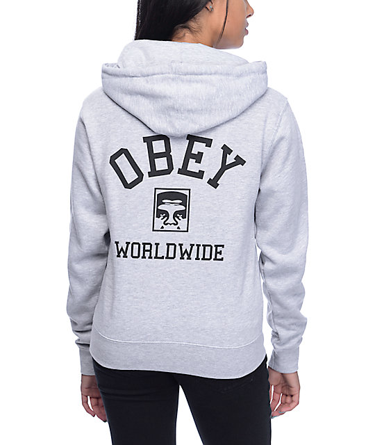 Obey Phenomenology Dept Grey Hoodie