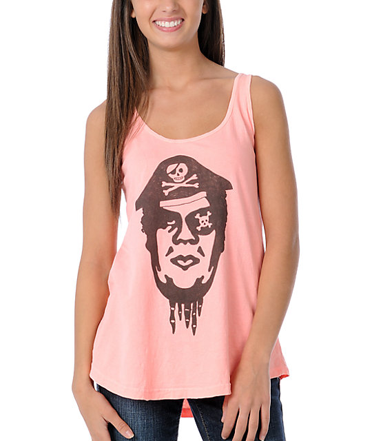 Obey Pirate Neon Pink Tank Top