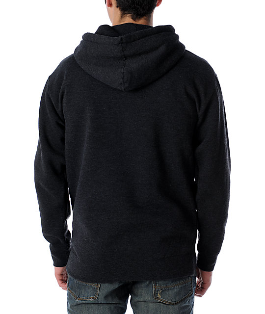 Obey Pirate Radio Charcoal Glow In The Dark Pullover Hoodie
