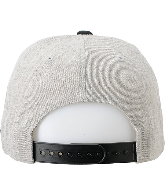 9e0778b00f7 ... Obey Posse Heather Grey Snapback Hat