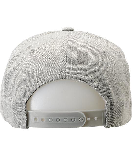 ... Obey Pro Bowl Heather Grey Snapback Hat 8e22658064f1