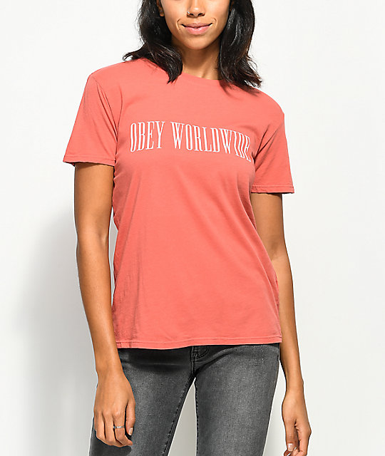 Obey Proof Type Drifter camiseta rosa