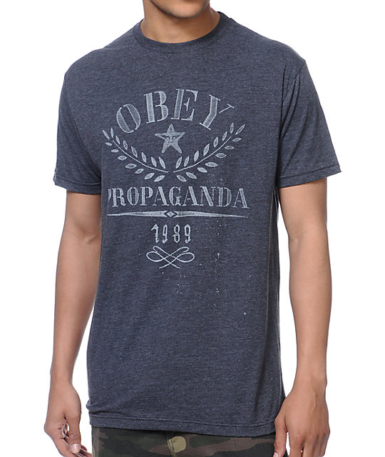 Obey Propaganda Flower Sack Charcoal T-Shirt