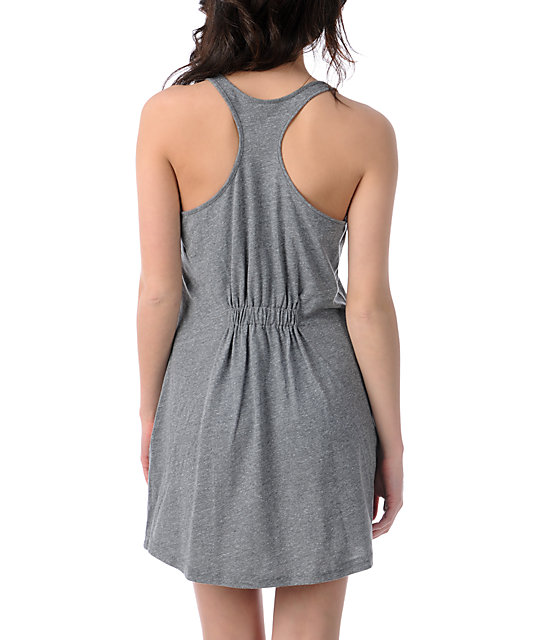Obey Psych Grey Tank Dress