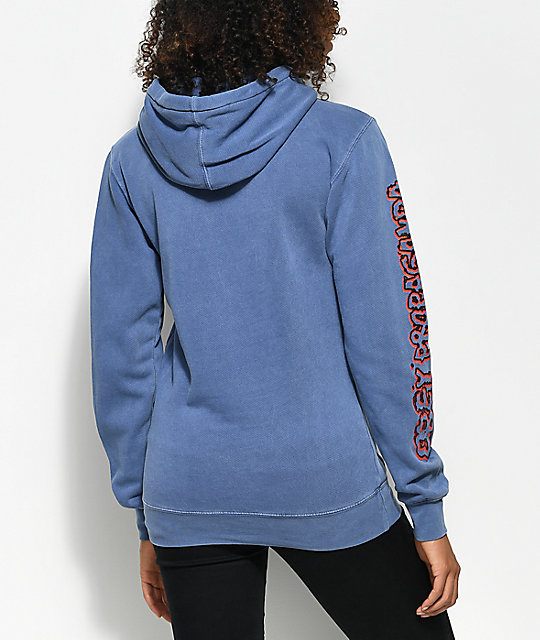 Obey Public Opinion Navy Hoodie